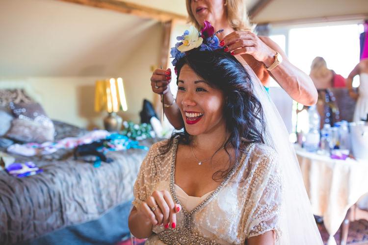 Flowers Hair Bride Bridal Crown Magical Outdoor Garden Festival Wedding http://realsimplephotography.net/