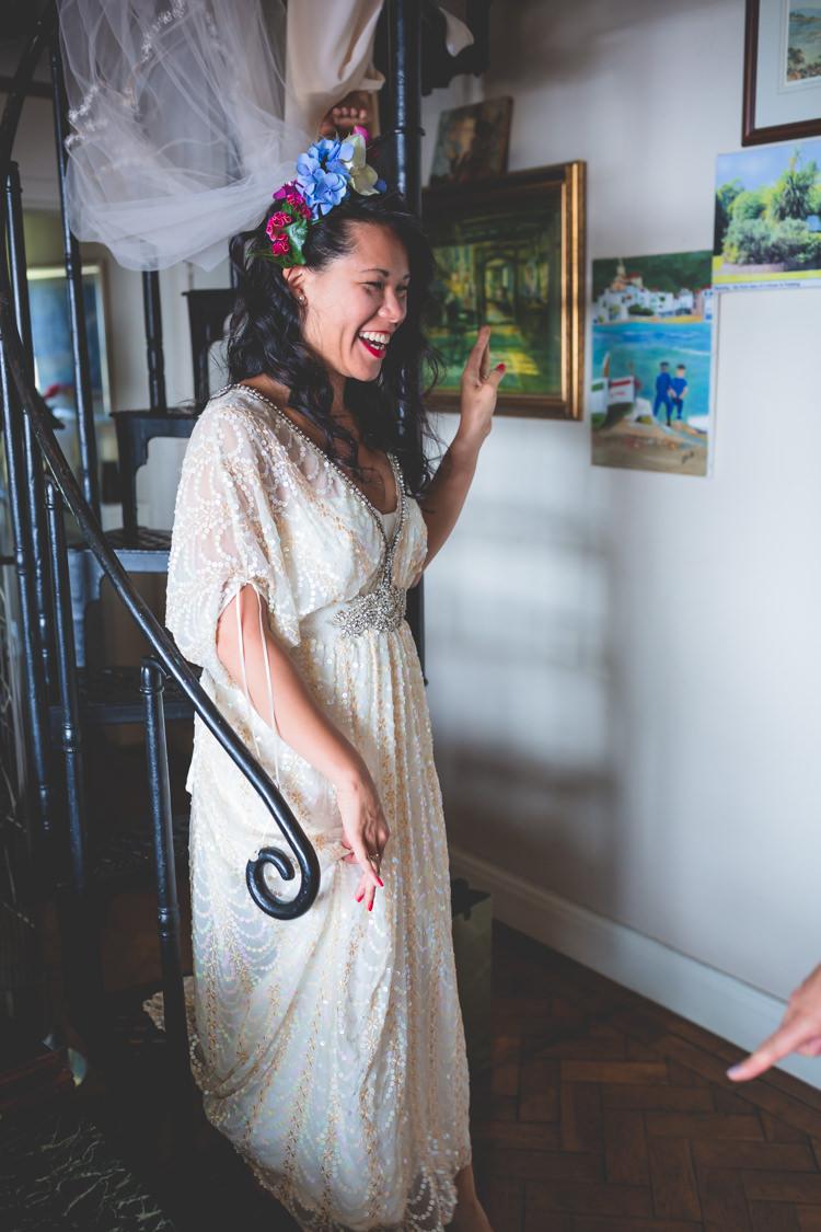 Vintage Sequin Dress Gown Bride Bridal Magical Outdoor Garden Festival Wedding http://realsimplephotography.net/
