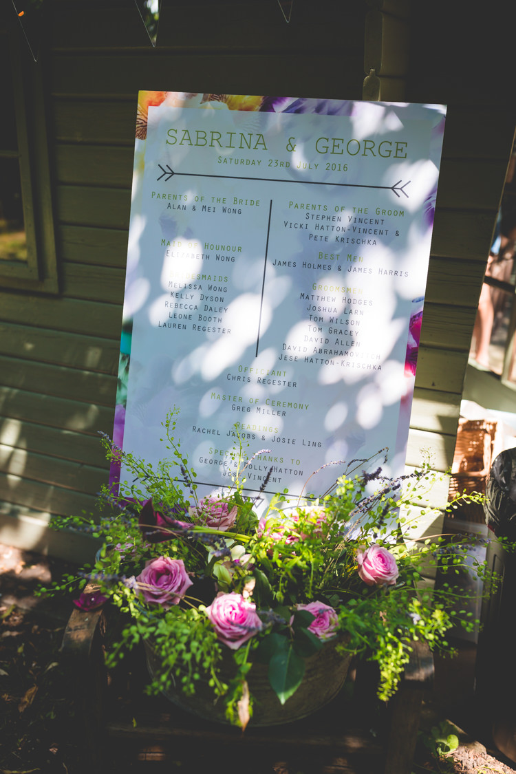 Stationery Sign  Floral Magical Outdoor Garden Festival Wedding http://realsimplephotography.net/