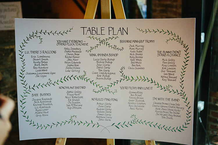 Illustrated Table Plan Seating Chart Stylish Indie Vintage Wedding http://www.timdunk.com/