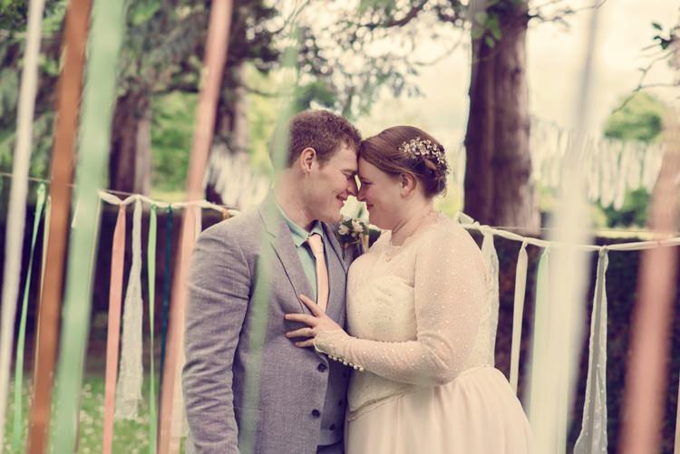 Ribbon Garlands Homespun Mint Yurt Wedding http://www.jessicaraphaelphotography.com/
