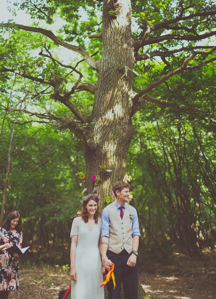 Wise Weddings Kent Colourful Woodland Humanist Wedding http://sashaweddings.co.uk/