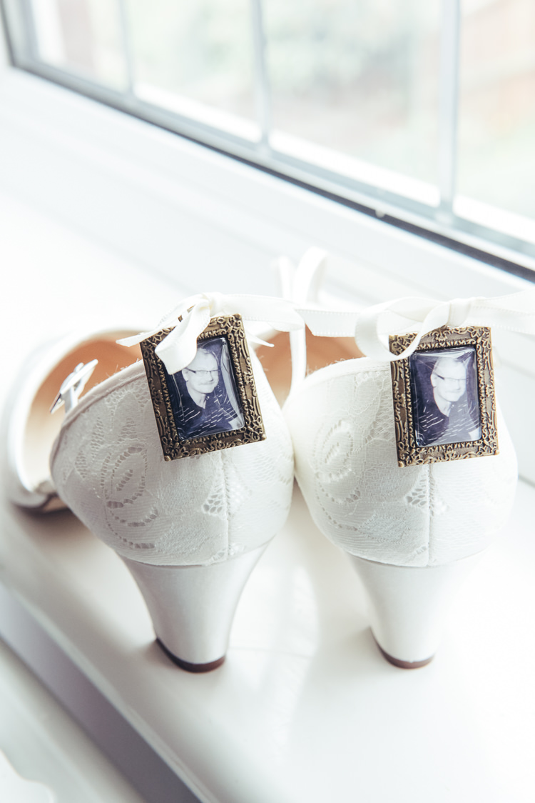Shoes Lace Bride Bridal Photos Frames Loved One Lost Bespoke Rustic Homespun Wedding http://lisahowardphotography.co.uk/
