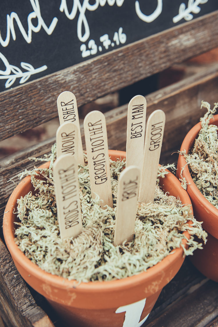 Pot Lolly Stick Table Plan Seating Chart Bespoke Rustic Homespun Wedding http://lisahowardphotography.co.uk/