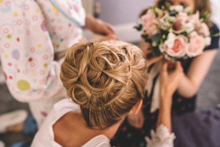 Hair Bride Bridal Up Do Style DIY Summer Rustic Country Wedding http://www.danielakphotography.com/