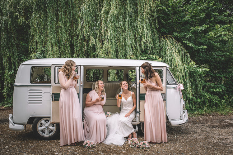 Long Pink Multiway Bridesmaid Dresses DIY Summer Rustic Country Wedding http://www.danielakphotography.com/