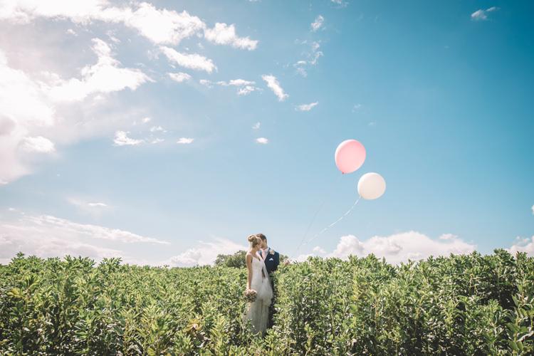 Bride Groom Balloons DIY Summer Rustic Country Wedding http://www.danielakphotography.com/