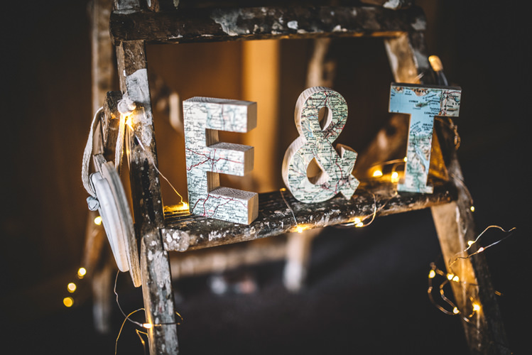 Wooden Ladder Letters Decor DIY Summer Rustic Country Wedding http://www.danielakphotography.com/