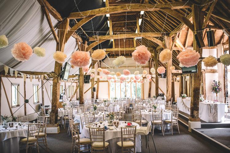 Barn Pom Poms Pink DIY Summer Rustic Country Wedding http://www.danielakphotography.com/