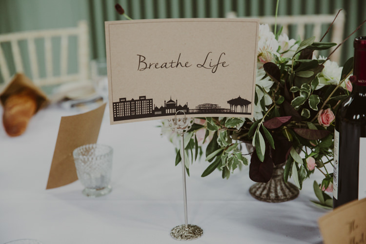 Table Name Stationery Brown Kraft Paper Romantic Stylish Relaxed Sea Wedding http://www.oxiphotography.co.uk/