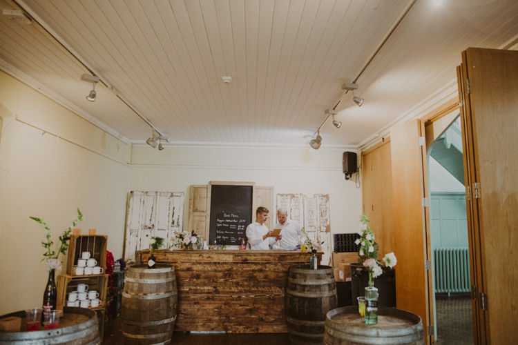 Rustic Bar Wooden Romantic Stylish Relaxed Sea Wedding http://www.oxiphotography.co.uk/
