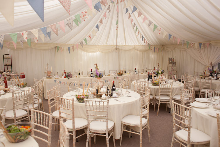 Bunting Pastel Marquee Garden Party Wedding https://www.deliciousphotography.co.uk/