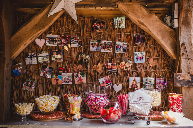 Sweets Sweetie Table Station Magical Fun Outdoor Barn Wedding http://www.sophieduckworthphotography.com/