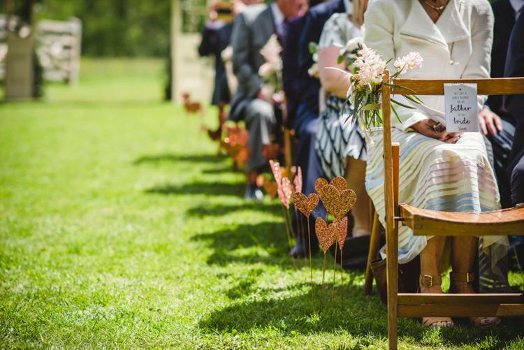 Glitter Heart Sticks Aisle Decor Magical Fun Outdoor Barn Wedding http://www.sophieduckworthphotography.com/