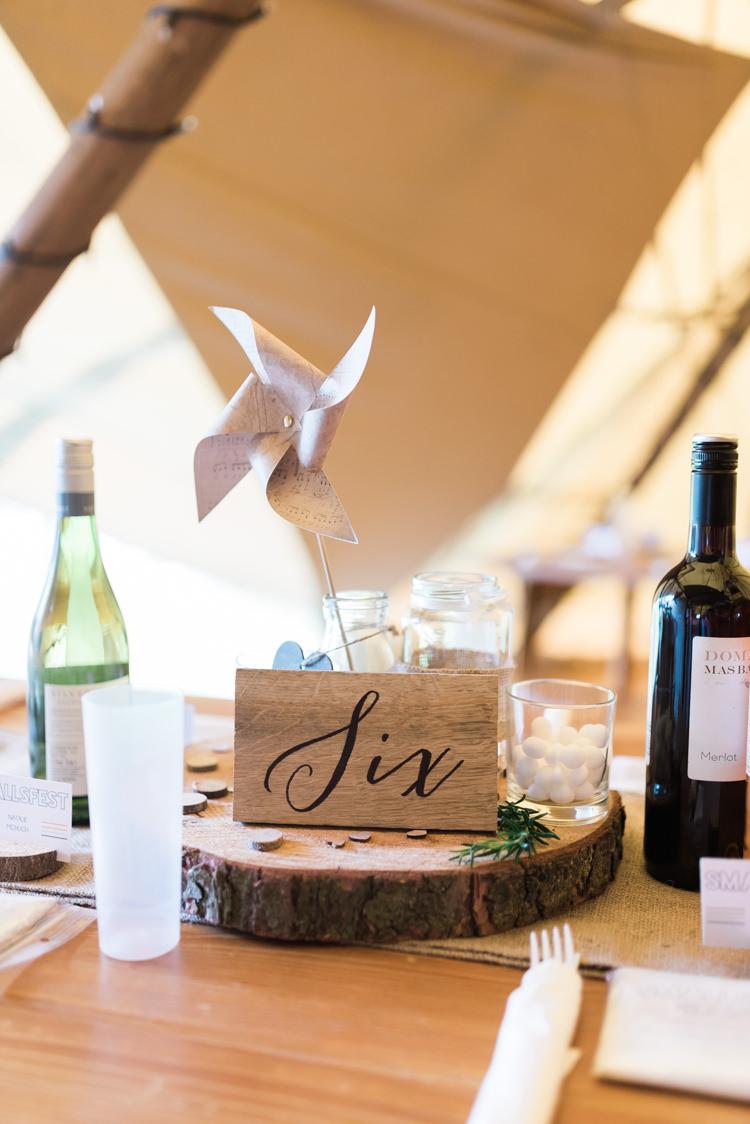 Table Centrepiece Pinwheel Wooden Number Long Decor Camping Festival Rave Tipi Wedding http://petalandblushartistry.co.uk/