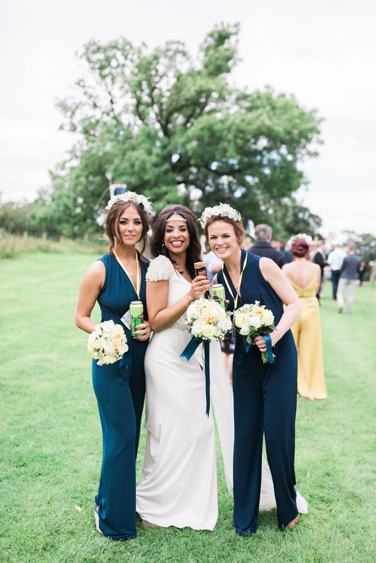Long Navy Blue Bridesmaid Dresses Camping Festival Rave Tipi Wedding http://petalandblushartistry.co.uk/