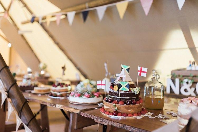 Cake Table Bake Off Camping Festival Rave Tipi Wedding http://petalandblushartistry.co.uk/