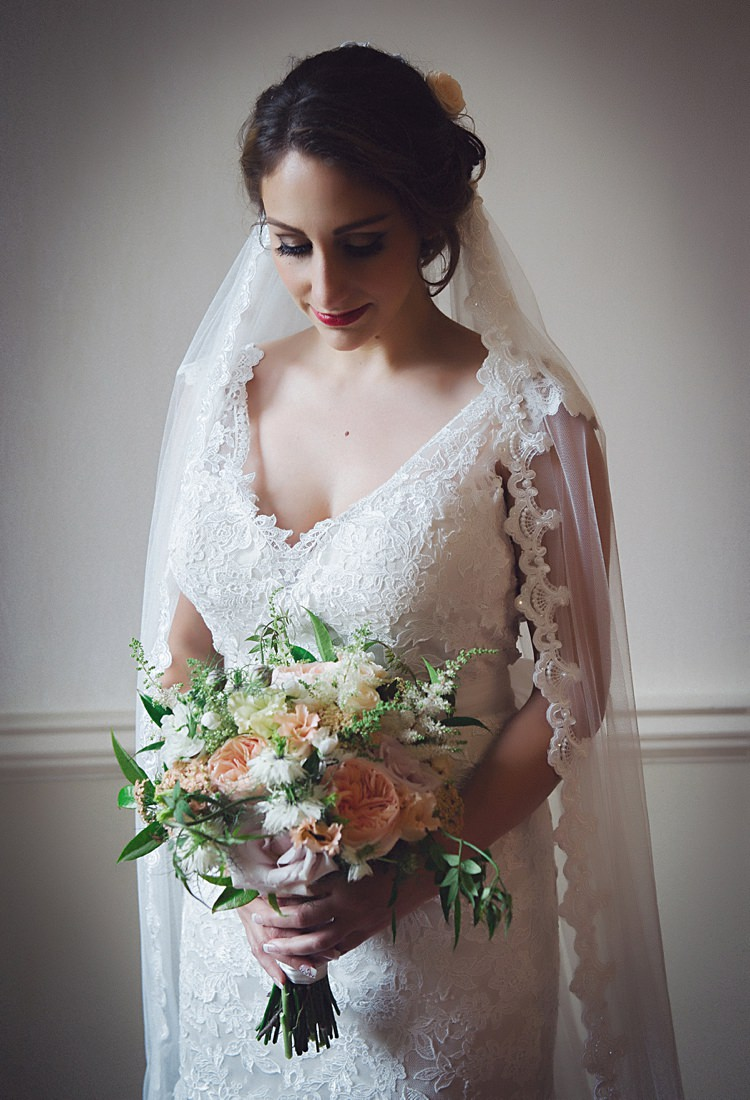 Kenneth Winston Private Label by G Dress Gown Bride Bridal Lace Veil Hair Make Up Natural Peach Garden Wedding http://www.juliaandyou.co.uk/