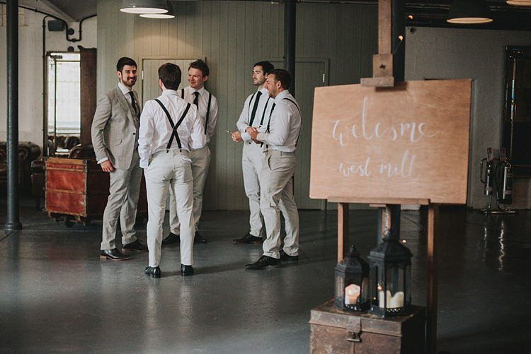 Calligraphy Welcome Sign White Wooden Industrial Cool Mill Greenery Wedding http://www.beckyryanphotography.co.uk/