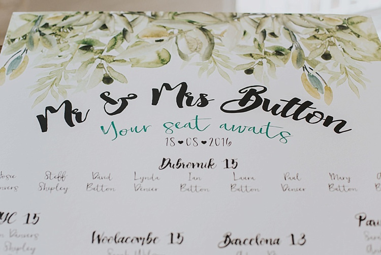 Foliage Calligraphy Seating Plan Table Chart Stationery Industrial Cool Mill Greenery Wedding http://www.beckyryanphotography.co.uk/