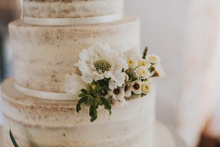 Naked Cake Crumb Buttercream Flowers Industrial Cool Mill Greenery Wedding http://www.beckyryanphotography.co.uk/
