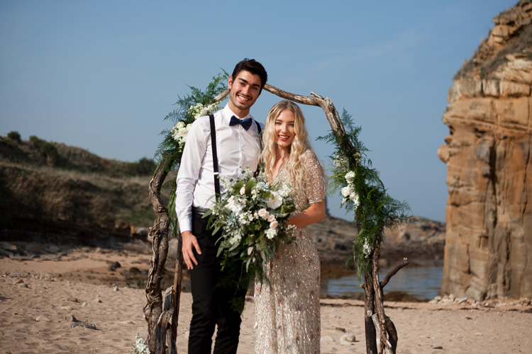 Luxe Bohemian Beach Wedding Ideas http://www.zoeemilie.co.uk/