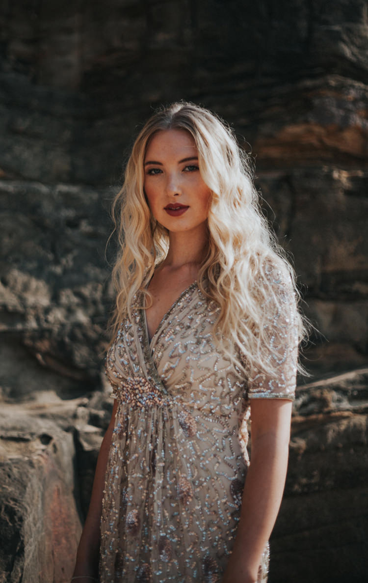 Long Hair Waves Bride Bridal Blonde Luxe Bohemian Beach Wedding Ideas http://www.zoeemilie.co.uk/