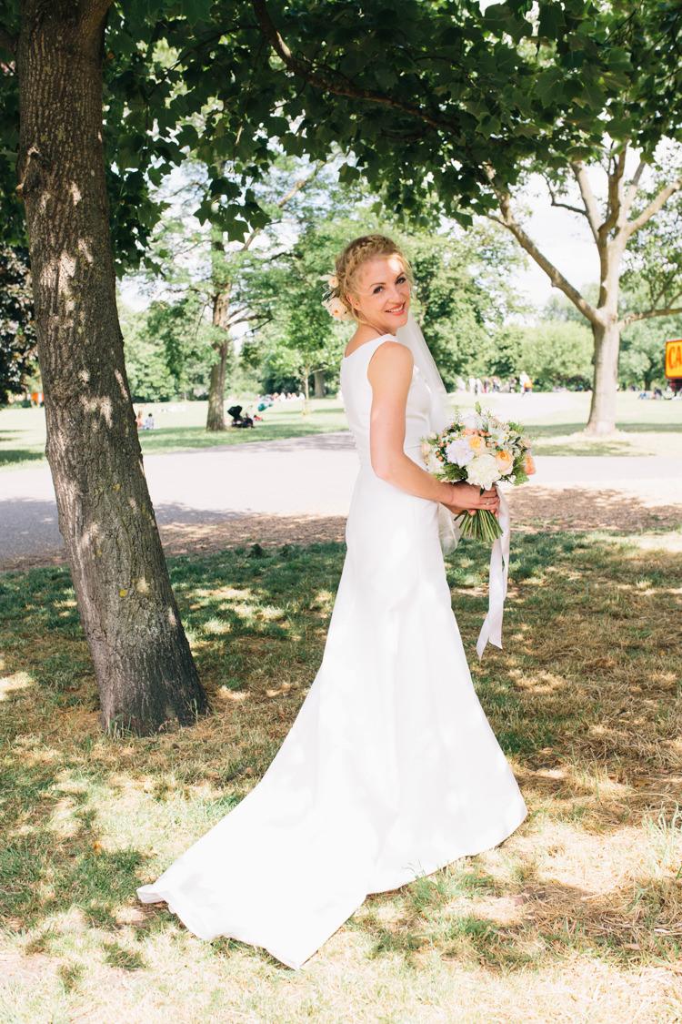 Jesus Peiro Dress Gown Bride Bridal Light Pretty Peach London City Wedding http://www.katiepalmerphotography.co.uk/