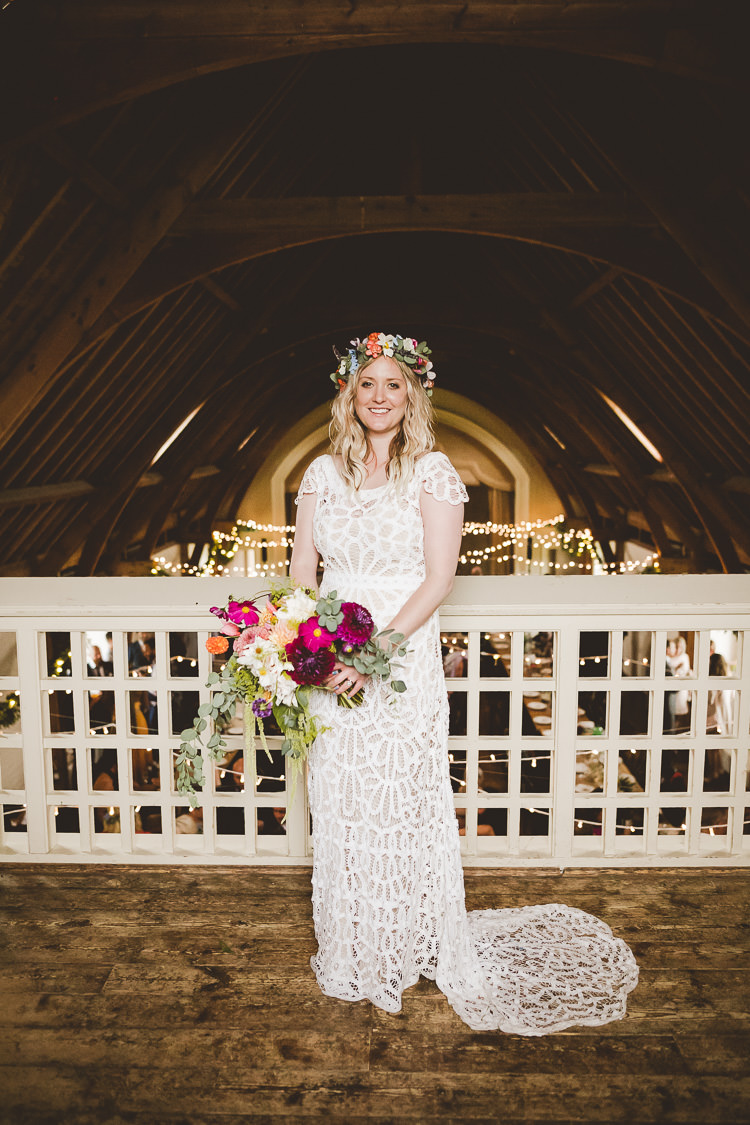 Violet by Rue De Seine Bohemian Dress Bride Bridal Gown Eclectic Whimsical Village Hall Wedding http://www.nicolacasey.photography/