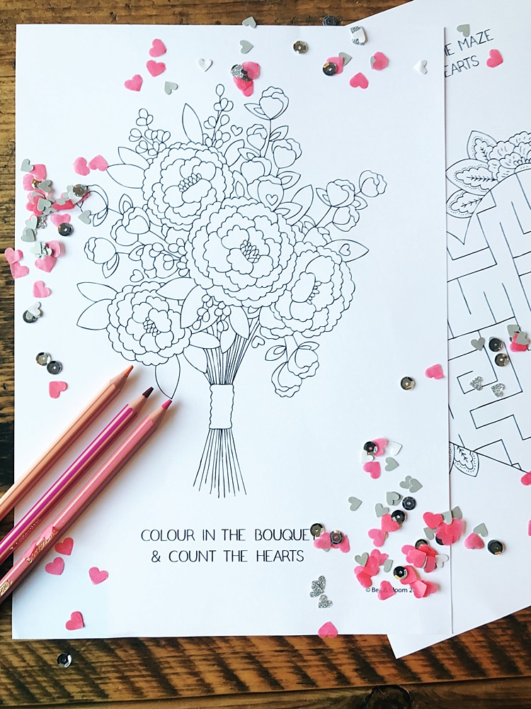 Free Download Printable Kids Children Colouring Sheets Games Activities Bea & Bloom UK