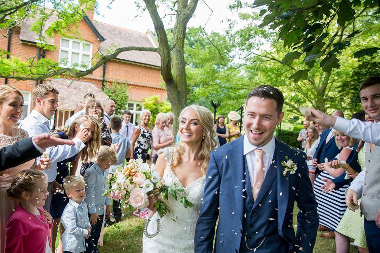 Confetti Throw Romantic Summer Country Blush Wedding http://katherineashdown.co.uk/