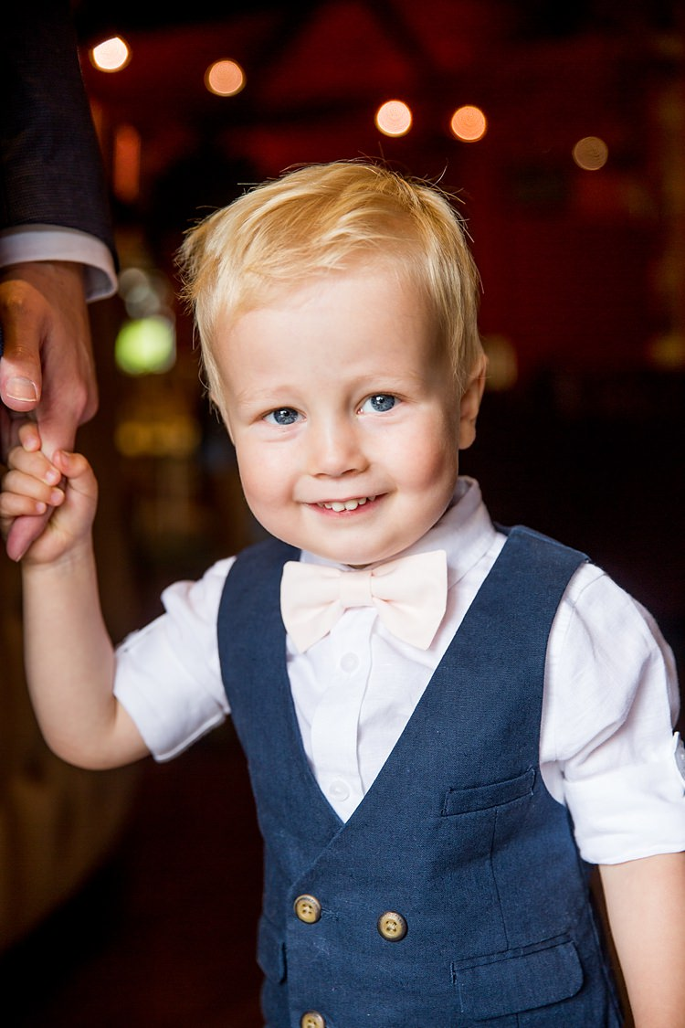 Page Boy Child Waistcoat Bow Tie Romantic Summer Country Blush Wedding http://katherineashdown.co.uk/