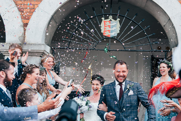 Confetti Throw Bride Groom Seaside Country Farm Pale Blue Marquee Wedding http://loveandadventures.co.uk/