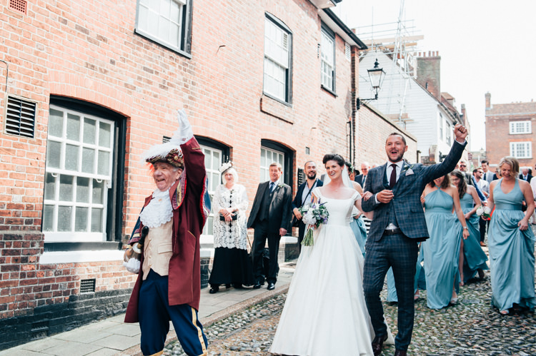 Town Crier Rye Seaside Country Farm Pale Blue Marquee Wedding http://loveandadventures.co.uk/