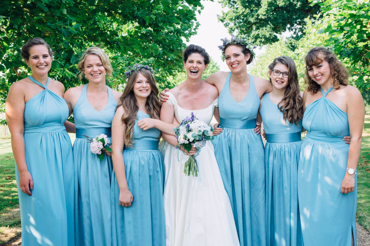Vera Wang Bridesmaid Dresses Seaside Country Farm Pale Blue Marquee Wedding http://loveandadventures.co.uk/
