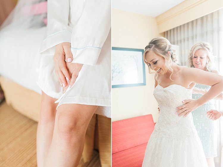 Bride Getting Ready Lace Sweetheart Strapless Bridal Gown Soft Blush Sage Green Wedding California http://julia-rosephotography.com/