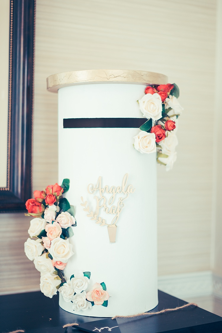Post Box Cards Flowers Fun Stylish City Hall Wedding http://www.terryliphotography.co.uk/