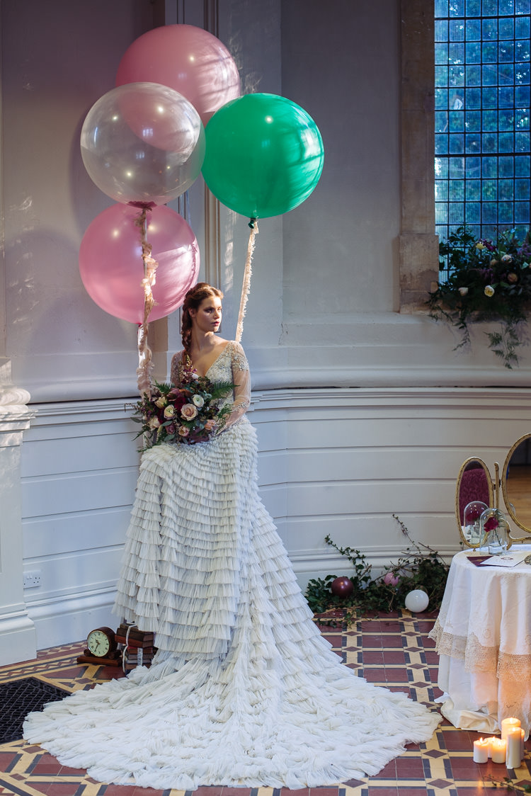 Ruffle Dress Gown Sleeves Bride Bridal Balloons Beauty And The Beast Wedding Ideas https://sophiecarefull.co.uk/