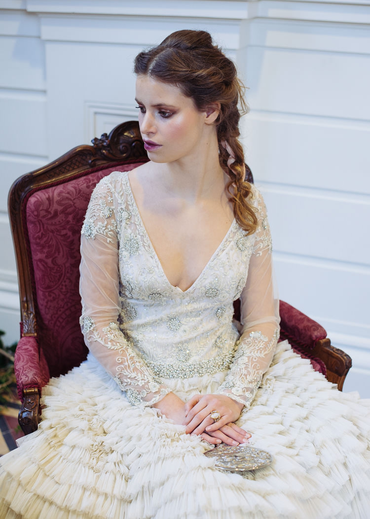 Embellished Sleeves Dress Gown Bride Bridal Beauty And The Beast Wedding Ideas https://sophiecarefull.co.uk/