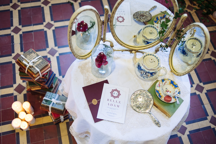 Dressing Table Rose Beauty And The Beast Wedding Ideas https://sophiecarefull.co.uk/