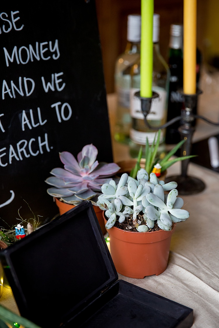 Succulents Decor Mexican Inspired Colourful Cactus Wedding http://katherineashdown.co.uk/