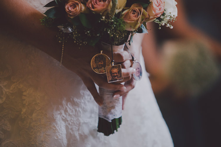 Bouquet Lockets Bride Bridal Photos Chic Rustic Grey Barn Wedding http://www.kevelkinsphotography.co.uk/