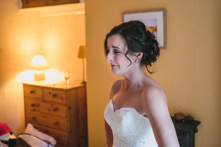 Blue by Enzoani Relaxed Cosy Stylish Autumnal Wedding http://www.tierneyphotography.co.uk/