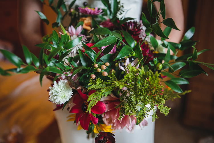 Colourful Bouquet Greenery Relaxed Cosy Stylish Autumnal Wedding http://www.tierneyphotography.co.uk/