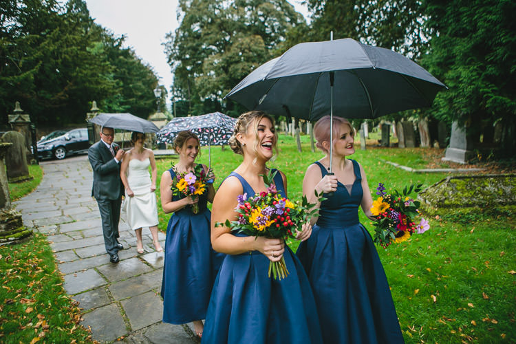 Umbrellas Chi Chi London Bridesmaids ASOS Relaxed Cosy Stylish Autumnal Wedding http://www.tierneyphotography.co.uk/