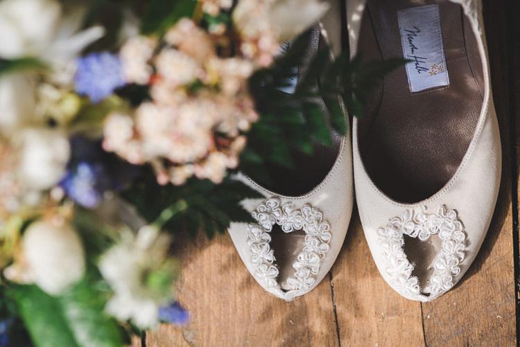 Heart Peep Toe Shoes Magical Spring Bluebell Woodland Wedding Ideas http://helinebekker.co.uk/