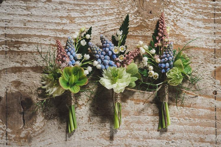 Buttonholes Magical Spring Bluebell Woodland Wedding Ideas http://helinebekker.co.uk/