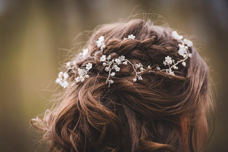 Hair Vine Bride Bridal Accessory Magical Spring Bluebell Woodland Wedding Ideas http://helinebekker.co.uk/