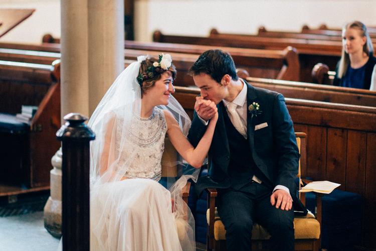 Needle & Thread DKNY Suit St Mary Oatlands Heartwarming Festive Winter Wedding http://www.nikkivandermolen.com/