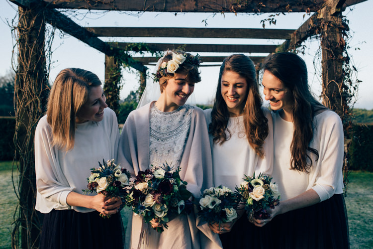Needle & Thread Zara Bridesmaids Heartwarming Festive Winter Wedding http://www.nikkivandermolen.com/